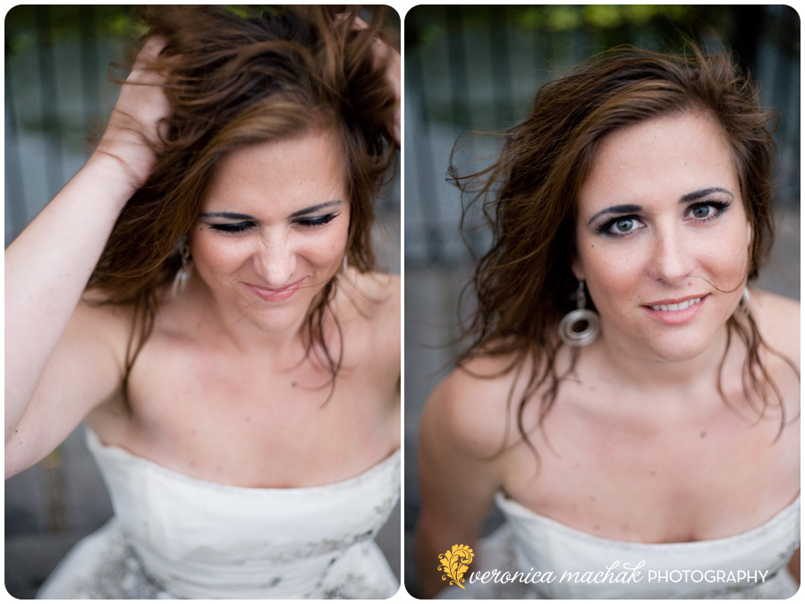 Beth looking dirty during a Belle Isle Trash the Dress shoot